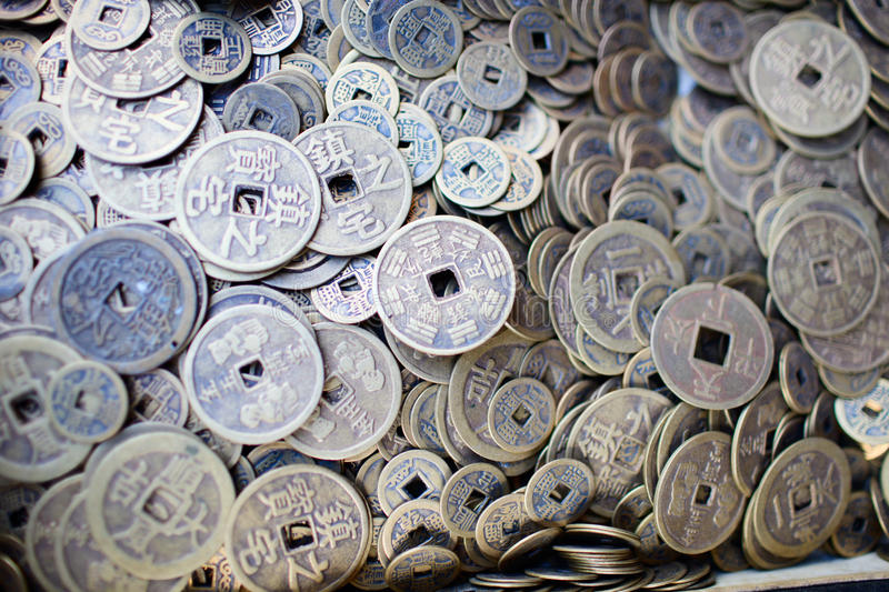 Download Collection Of Old Chinese Coins Stock Photo - Image: 16108184