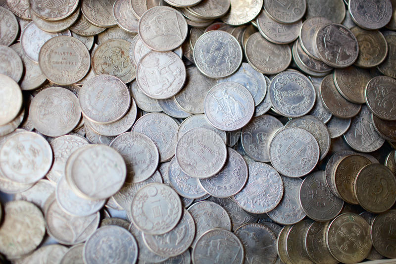 Download Collection of old coins stock photo. Image of background - 16108006