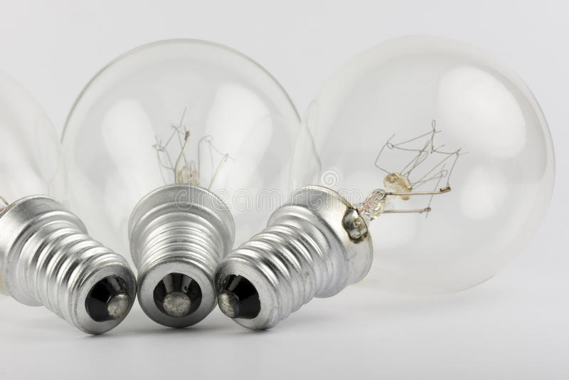 Collection of old light bulbs royalty free stock photo
