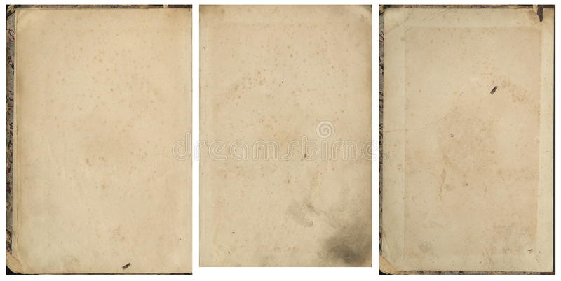 Download Collection Of Old Vintage Book Paper Stock Image