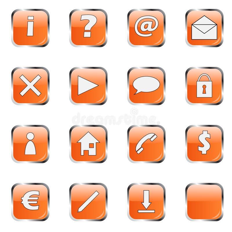 Collection orange 1 de graphisme de Web illustration libre de droits