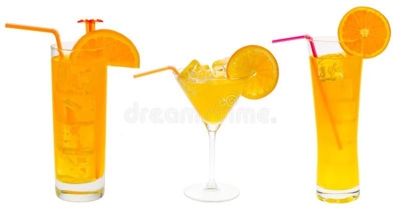 Collection orange de cocktail images stock