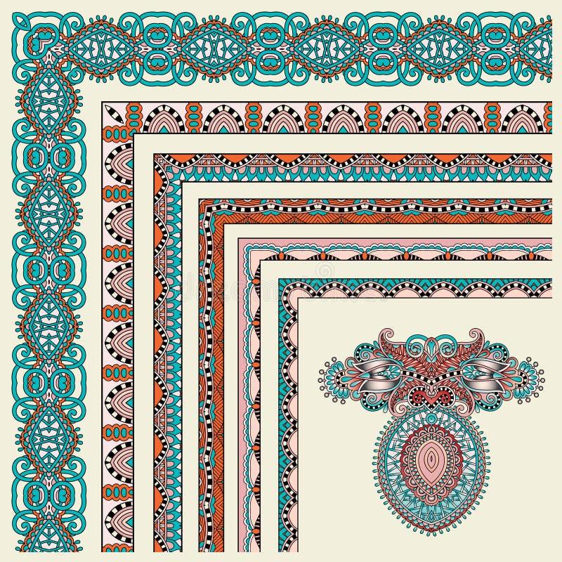 Download Collection Of Ornamental Floral Vintage Frame Illustration de Vecteur - Illustration du blanc, dessin: 45367523