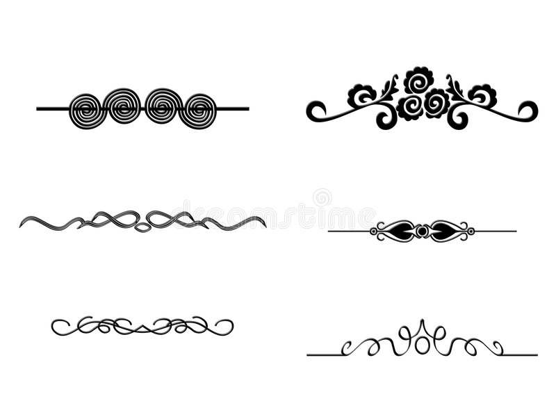 Collection of Ornaments #01. Collection of dividers for lots of occasions royalty free illustration