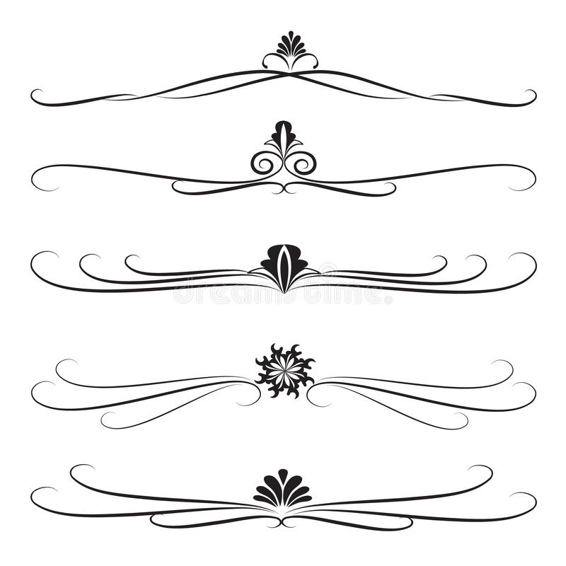 Download Collection Of Ornate Decoration Dividers Stock Vector - Image: 14851003