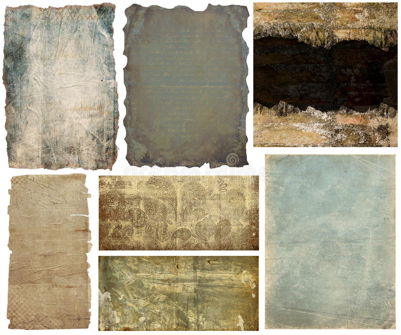 Collection paper banners and backgrounds royalty free illustration