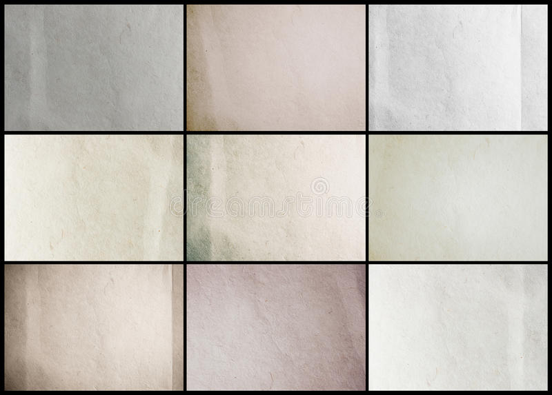 Collection paper texture background stock photo