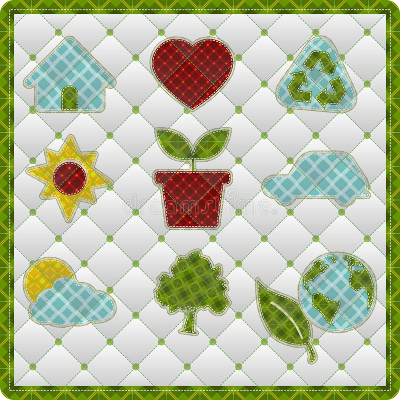 Download Collection Patchwork Concept Of Environment Icons Stock Illustration - Illustration: 24140111