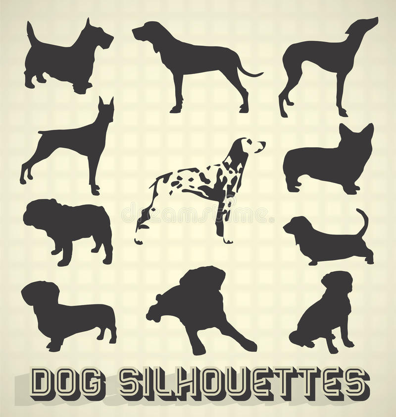 Download Pet Dog Silhouettes stock vector. Image of animal, collection - 30004373