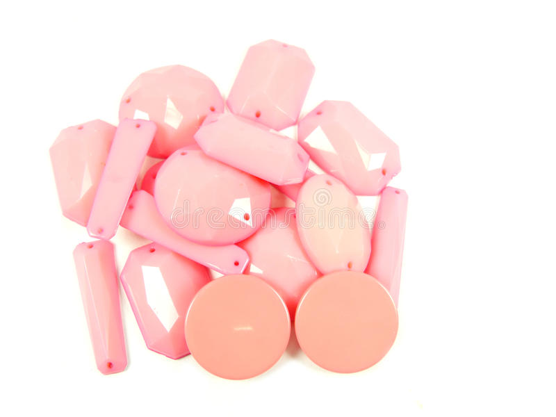 Collection of Pink Bead stock image