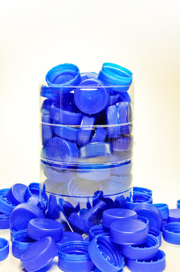 Download Collection of plastic caps stock image. Image of single - 13271251