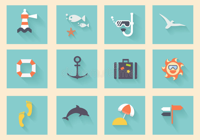Collection plate moderne de vecteur d'icônes illustration libre de droits