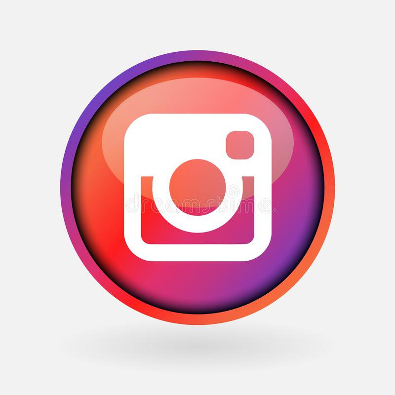Instagram Logo Printed On White Paper Editorial Stock Photo Illustration Of Collage Global 140373413