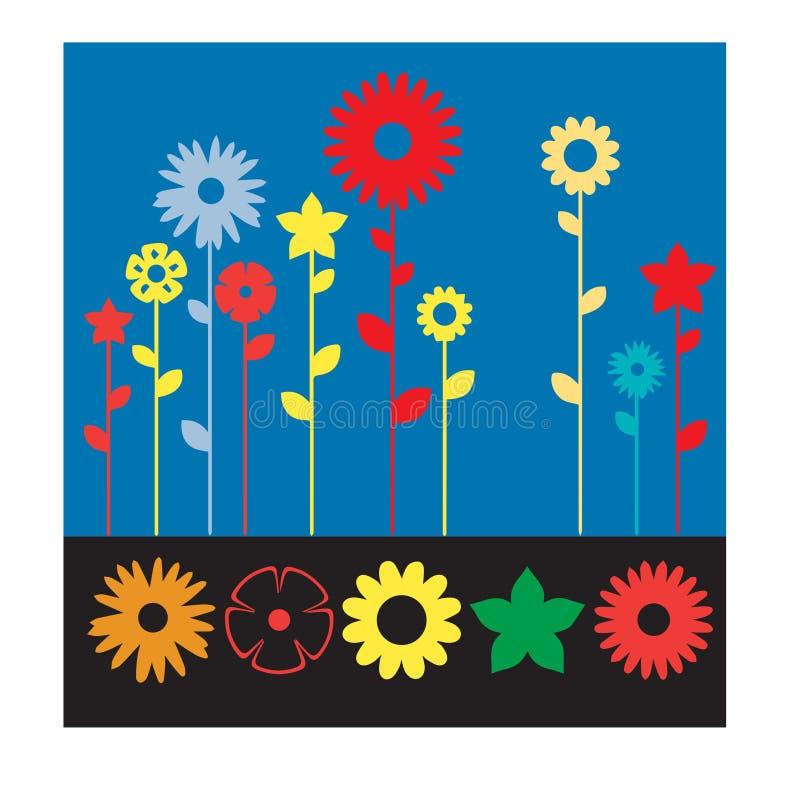 Collection pour tout le concepteur toute d'icône de fleur illustration de vecteur