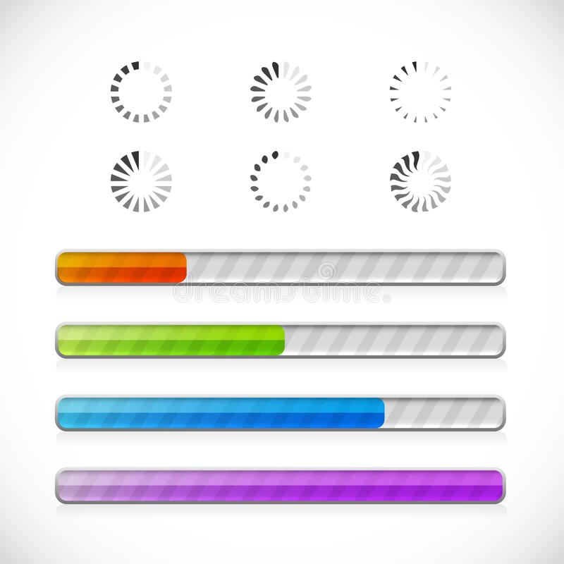Download Collection Of Preloaders And Progress Loading Bars Stock Vector - Illustration of interface, menu: 24044887