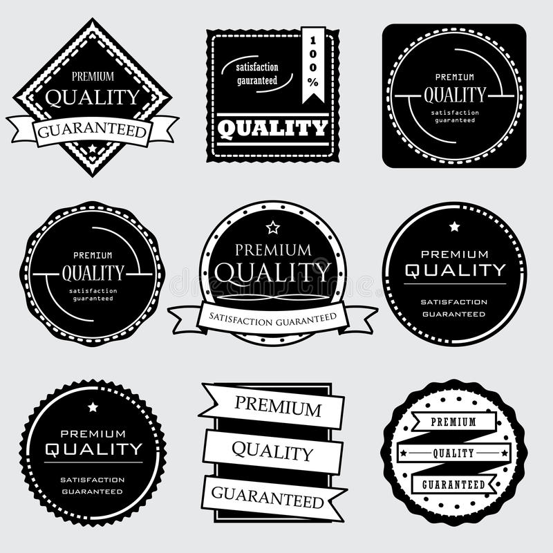 Collection of Premium and High Quality and Guarantee Labels design. Collection of Premium Quality and Guarantee Labels design vector illustration