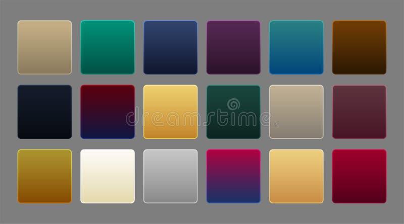 Collection of premium luxury gradient background stock illustration