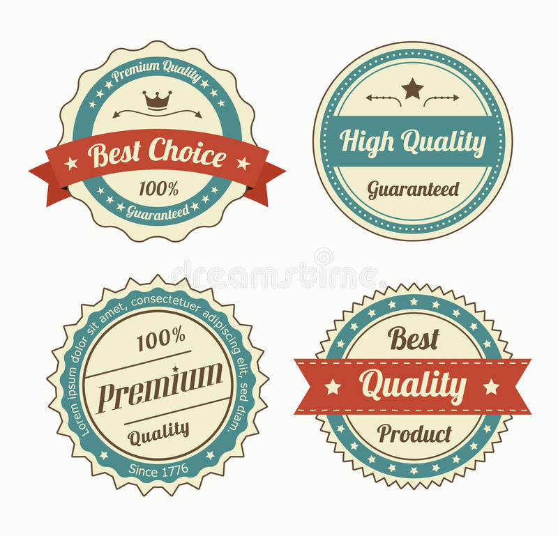 Collection of premium quality vintage labels in color. Eps8 vector vector illustration
