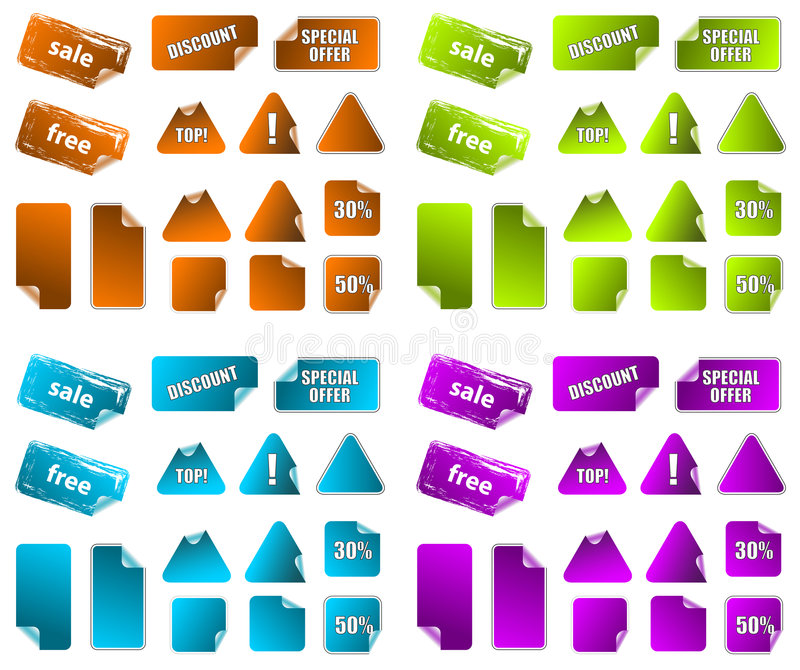 Download Collection Of Promotion Marketing Labels. Stock Photo - Image: 9089270