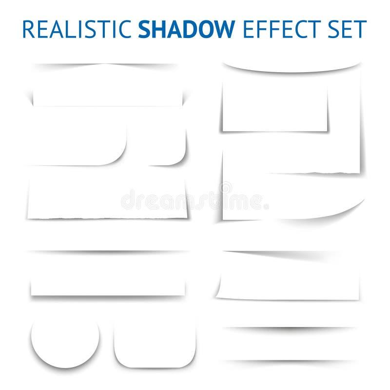 Collection réaliste d'effet d'ombre illustration libre de droits