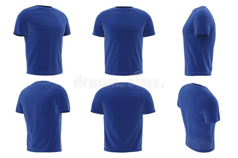 Collection réglée de l'habillement des hommes de T-shirt illustration de vecteur