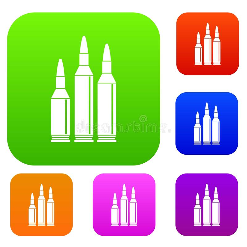Collection réglée de munitions de balle illustration libre de droits