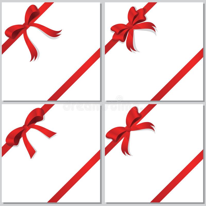 Download Collection of red bows stock vector. Image of white, wrap - 26181989