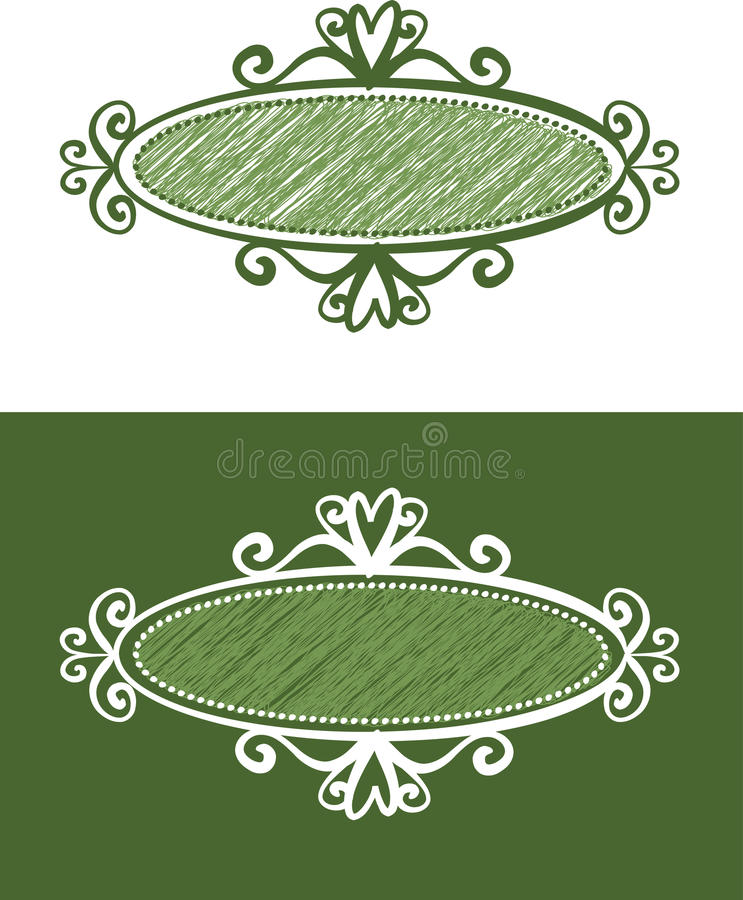 Download Collection of retro frames stock vector. Image of banner - 10122301