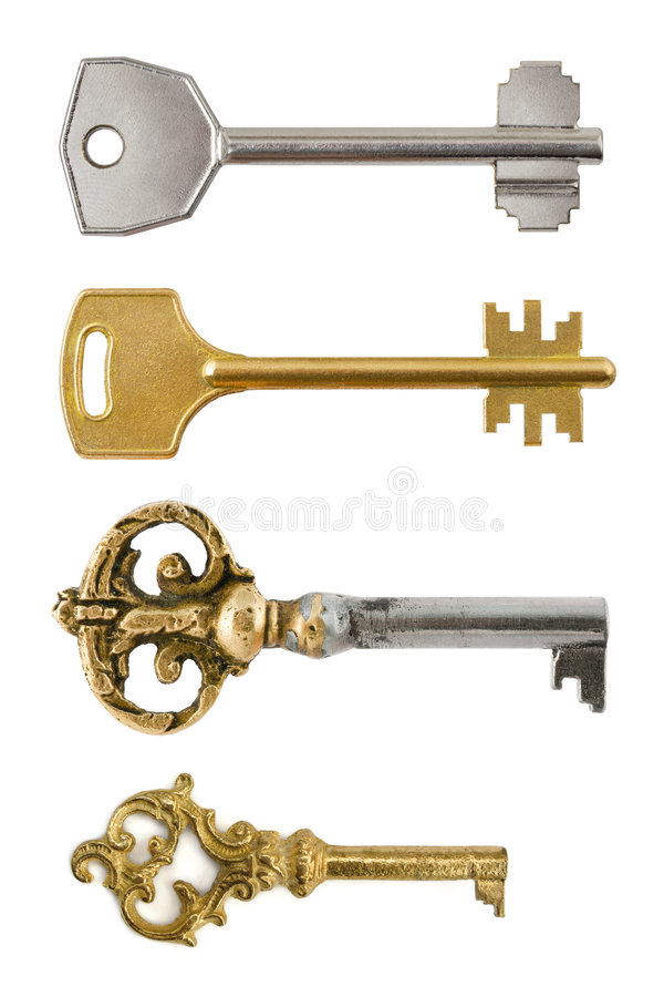Collection of retro keys royalty free stock photo