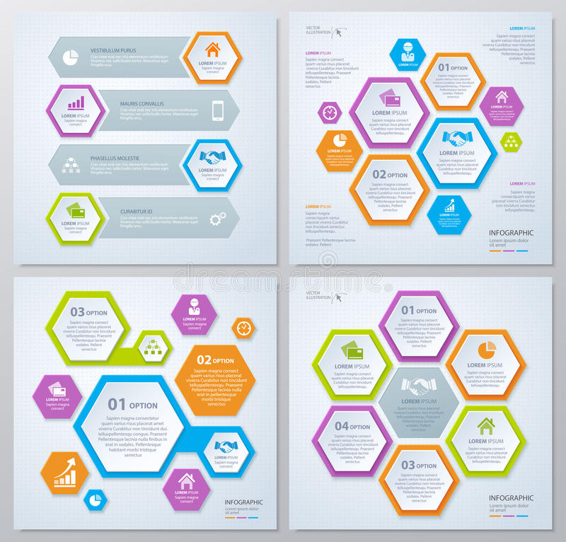 Collection of rhombus template for infographic. Business concept. Eps 10. Can be used for diagram, banner, number options, workflow layout, step up options stock illustration