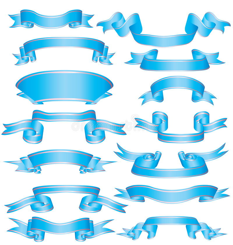 Download Collection Ribbons Royalty Free Stock Photos - Image: 6316858