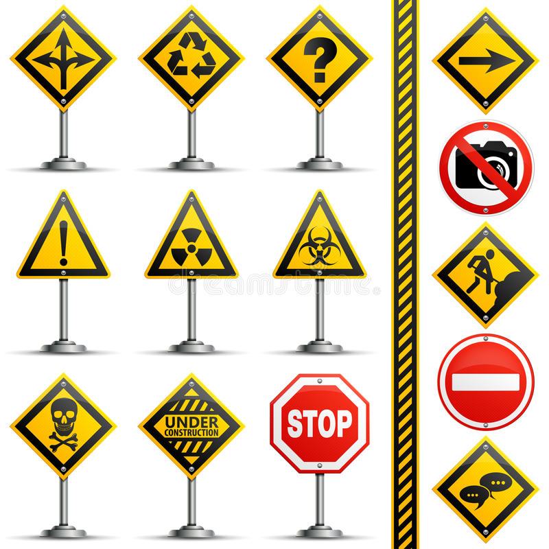 Collection Road Signs vector illustration