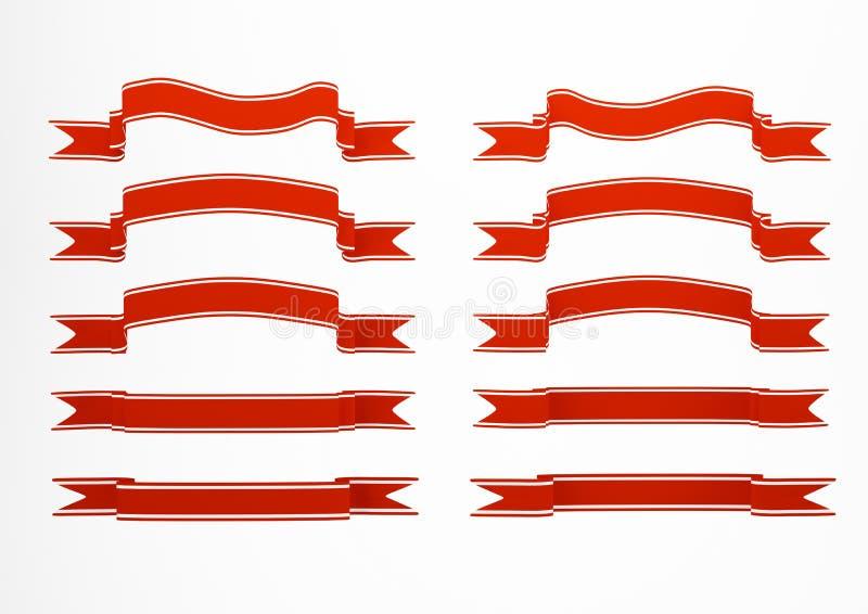 collection rouge de drapeau illustration libre de droits