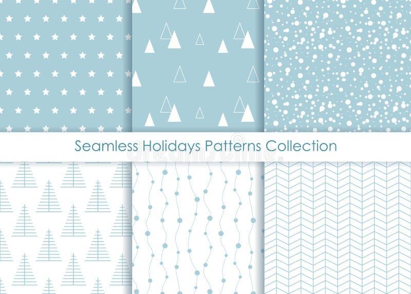Collection sans couture minimaliste d'impression de vacances illustration de vecteur