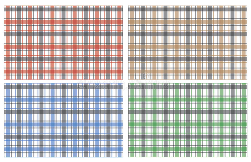 Collection Of Scottish Stylish Pattern Royalty Free Stock Photos