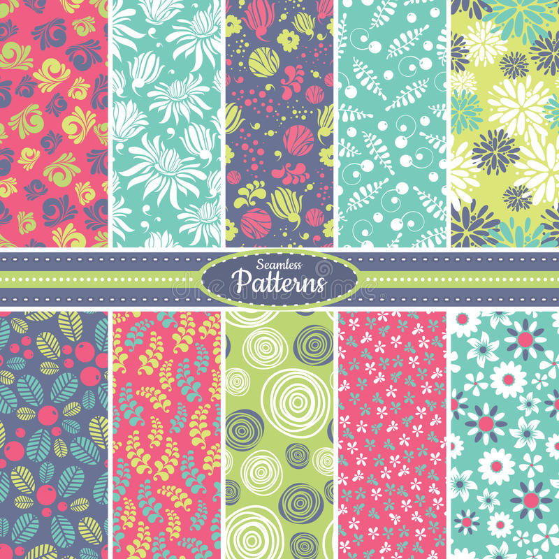 Download Collection Of Seamless Pattern Backgrounds Stock Vector - Image: 34618102