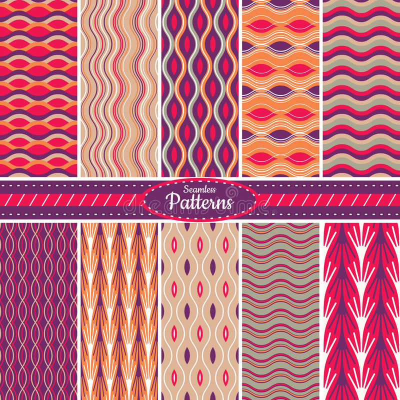 Download Collection Of Seamless Pattern Backgrounds Stock Vector - Image: 34618112