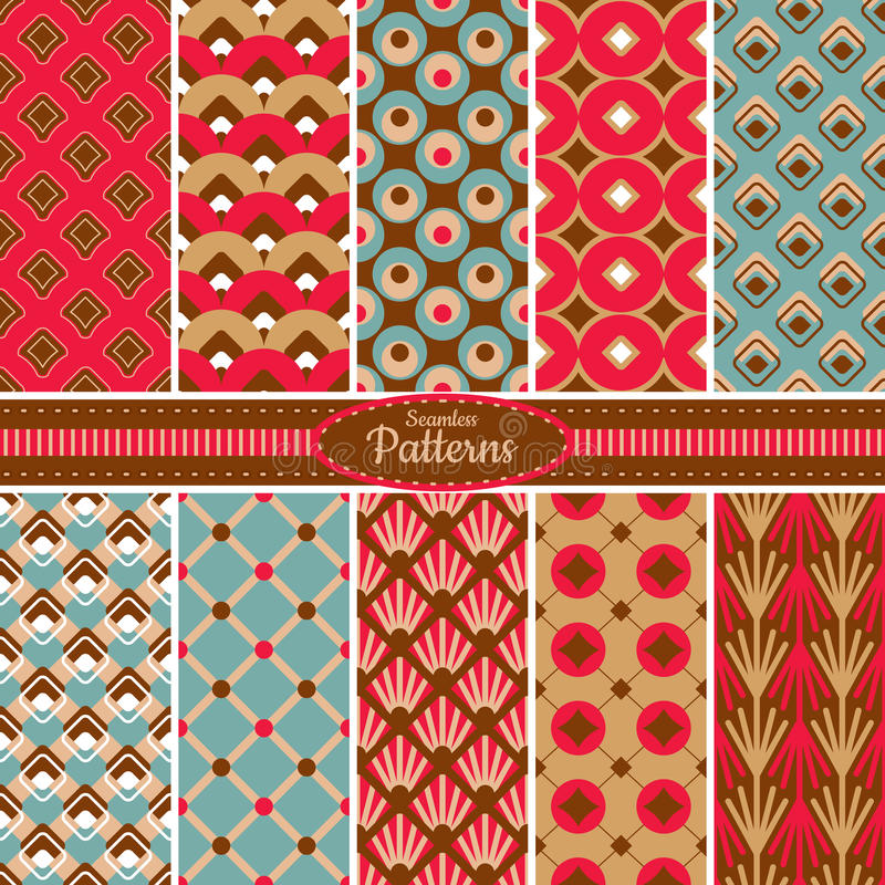 Download Collection Of Seamless Pattern Backgrounds Stock Vector - Image: 34618122