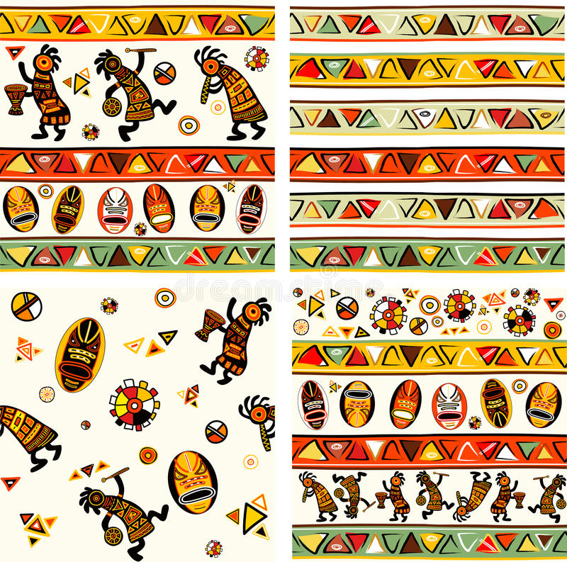 Collection of seamless vector background vector illustration