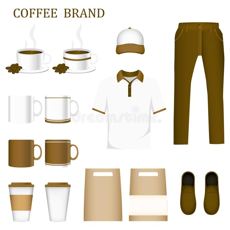 Collection set Corporate Identity and Product Package Include un. Iform sets. To design your brand image look good.Concept Coffee Brand illustration creative vector illustration