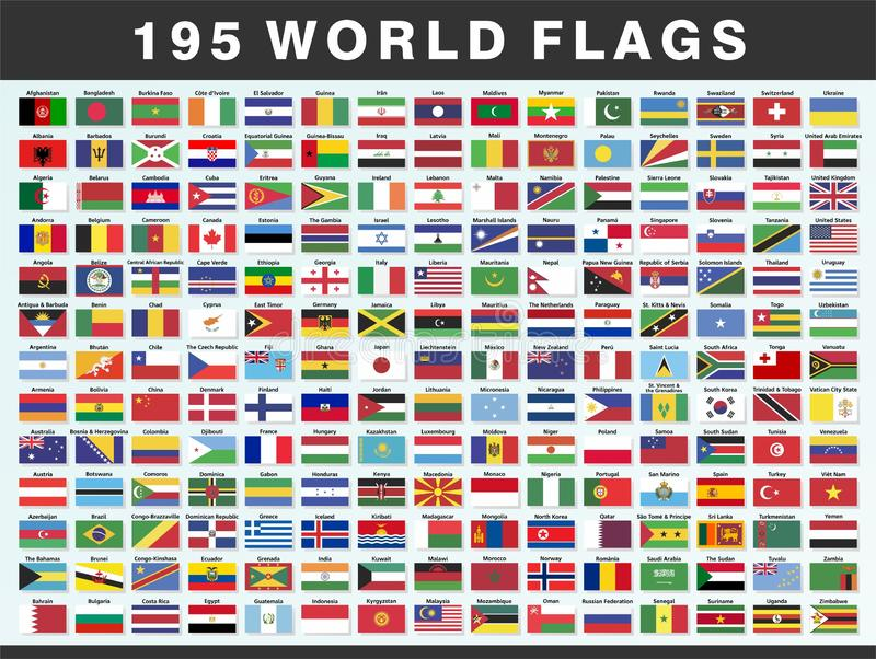 World National Flags of Countries vector illustration