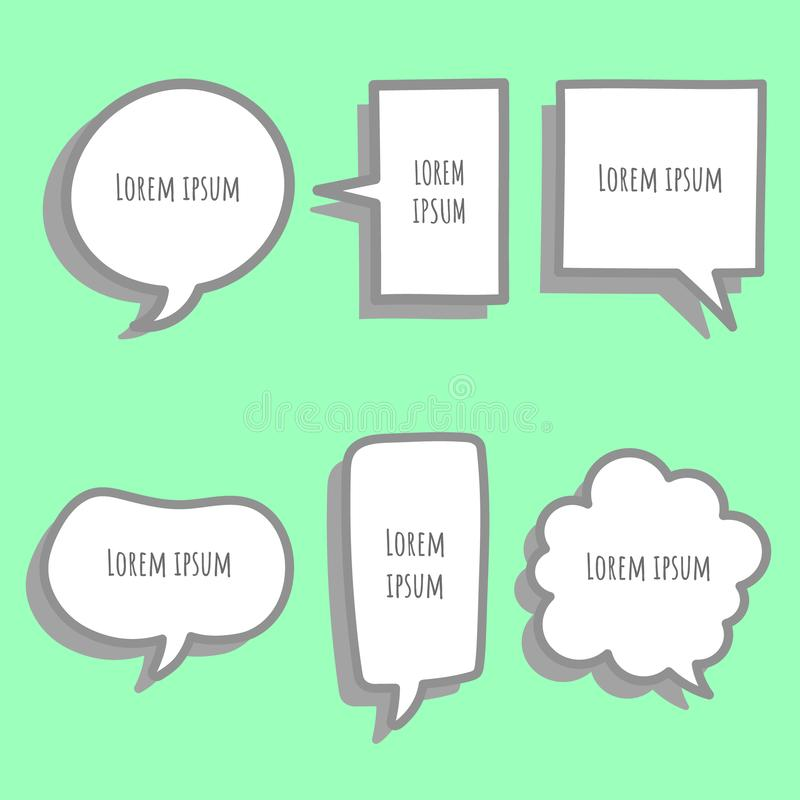 Free Collection Set Of Hand Drawing, Cute,sweet,colorful,pastel Speech Bubble Balloon Think,speak Stock Photo - 142495110