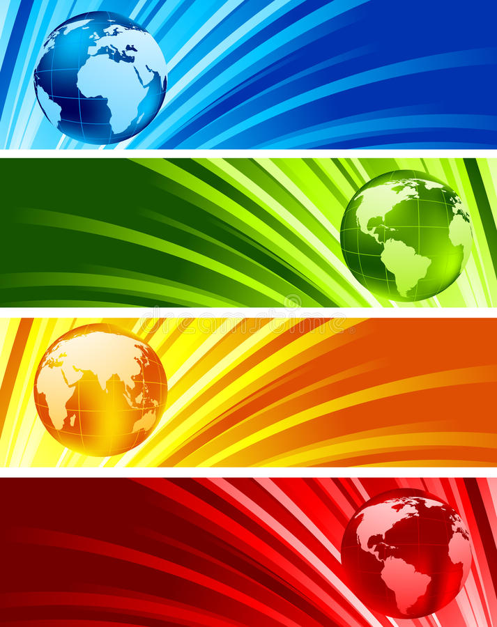 Download Collection Of Shiny Banners Royalty Free Stock Photo - Image: 18201505