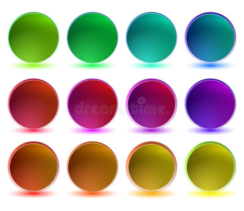 Collection of shiny buttons stock image