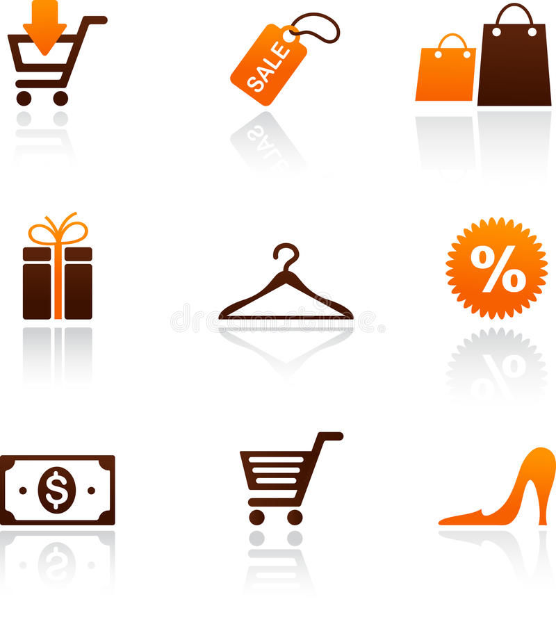 Download Collection Of Shopping Icons Stock Vector - Image: 25063143