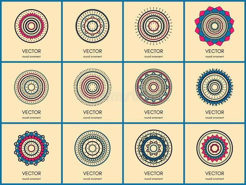 Collection simple de mandalas image stock