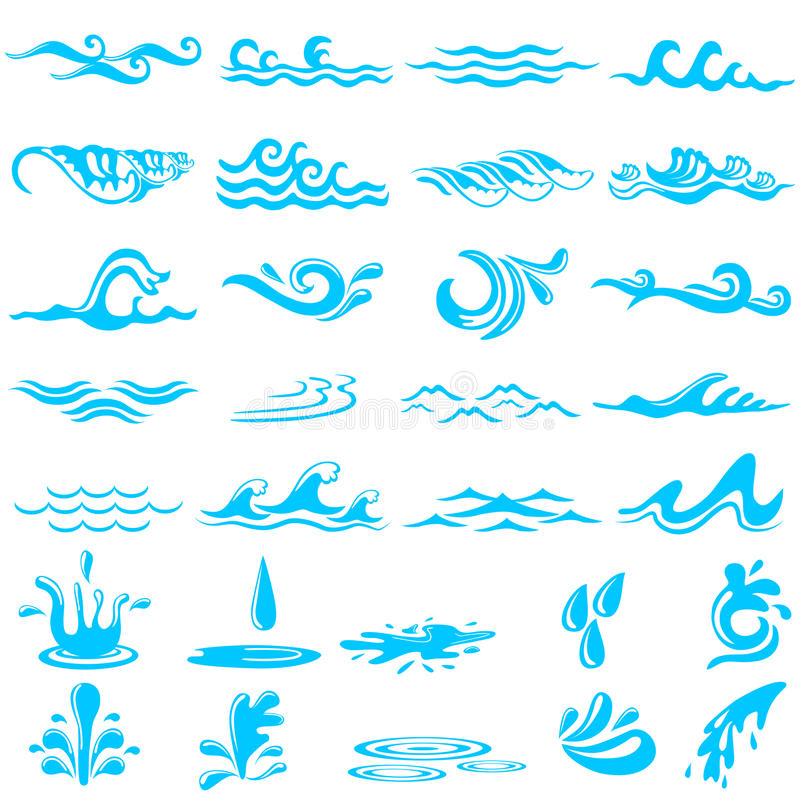 download collection of simple ocean wave stock vector illustration of liquid aqua 74130872