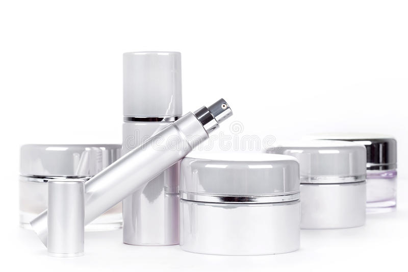Collection of skincare spa products stock photography