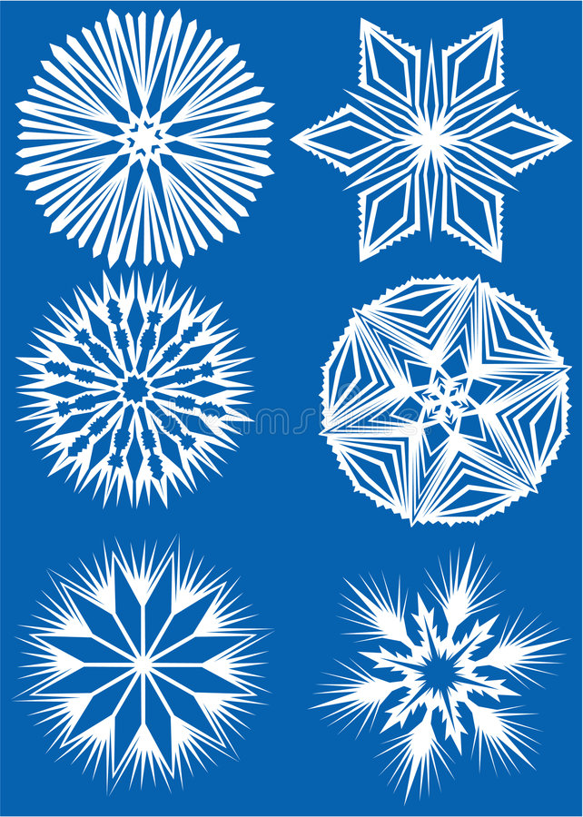 Download Collection of snowflakes stock vector. Illustration of pattern - 3336152
