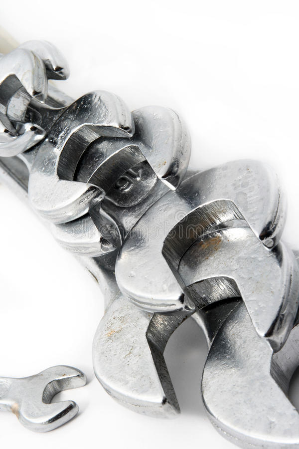 Collection of spanners royalty free stock photography